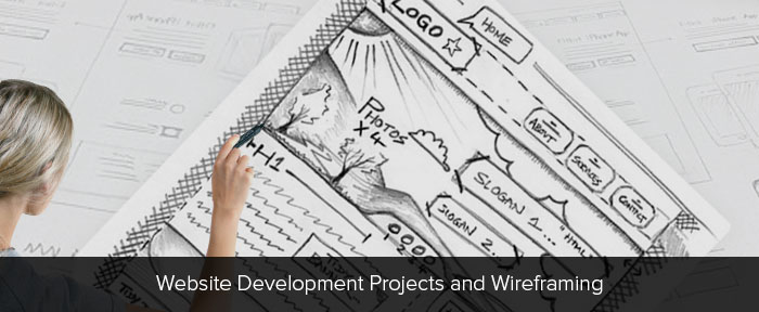 Website Development Projects and Wireframing