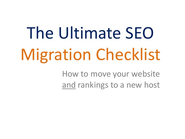 A Quick Guide on Website Migration: SEO Checklist