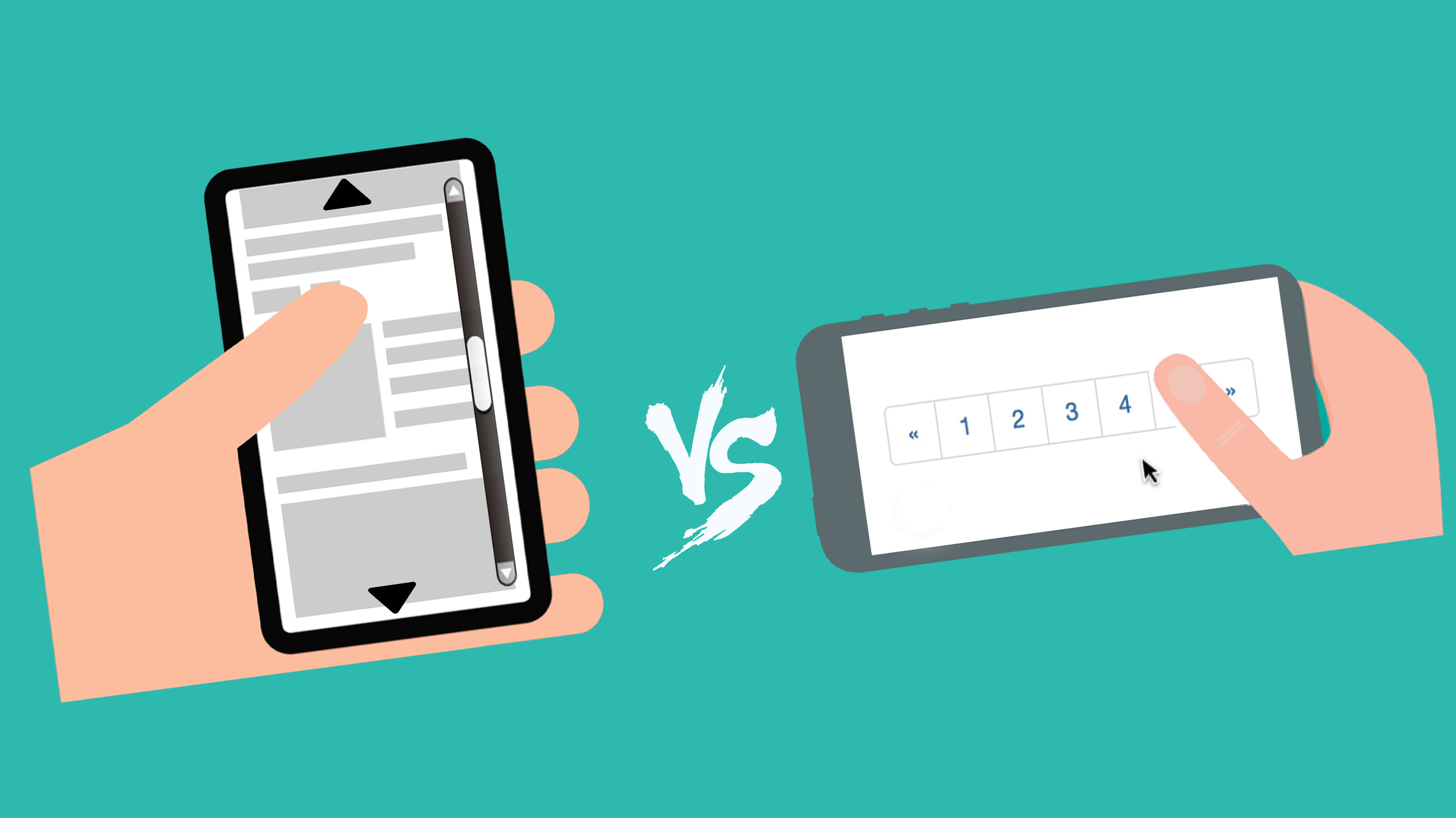 Redefining User Experience : Infinite Scrolling Vs. Pagination