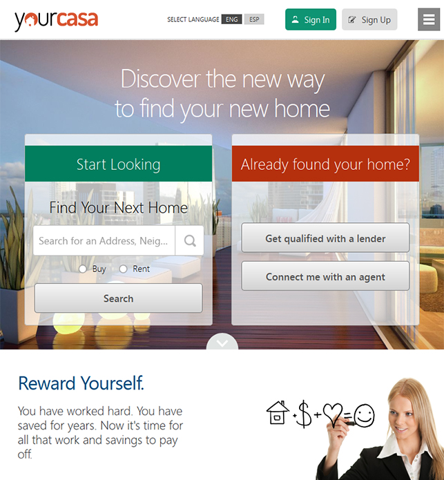 Yourcasa screen 1